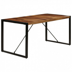 Masă de bucătărie, 160x80x75 cm, lemn masiv de sheesham