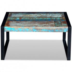 Masă de cafea, lemn reciclat de esență tare, 80x80x40 cm