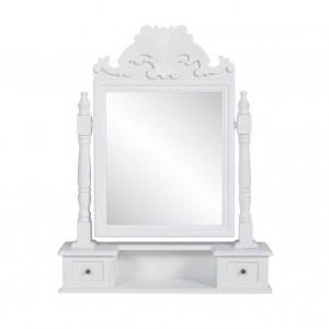 Masă de machiaj cu oglindă mobilă dreptunghiulară, MDF