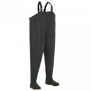 Pantaloni de vânătoare cu cizme, verde, mărime 46