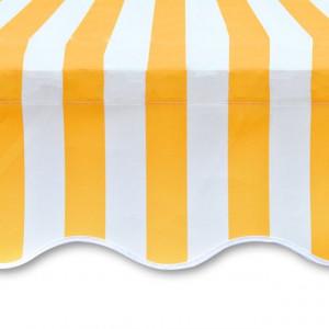 Pânză copertină galben & alb 6 x 3 m (cadrul nu este inclus)