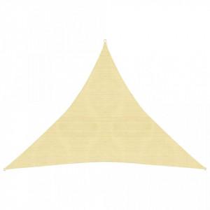 Pânză parasolar, bej, 3 x 3 x 3 m, HDPE, 160 g/m²
