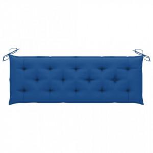 Pernă bancă de grădină, albastru deschis, 150x50x7 cm, textil