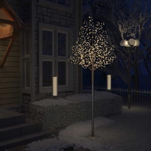 Pom Crăciun, 600 LED-uri alb cald, flori de cireș, 300 cm