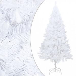 Pom de Crăciun artificial cu ramuri groase, alb, 240 cm, PVC