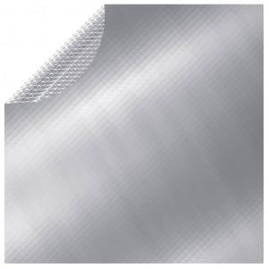 Prelată de piscină, argintiu, 381 cm, PE