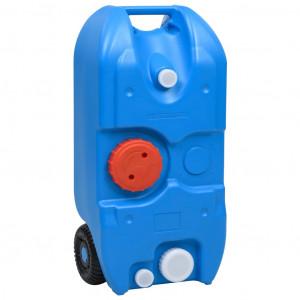 Rezervor de apă cu roți pentru camping, albastru, 40 L