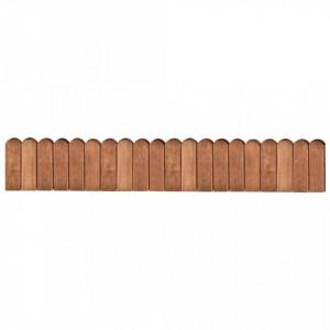 Rolă de bordură, maro, 120 cm, lemn de pin tratat