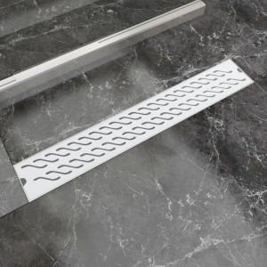 Scurgere duș liniară din oțel inoxidabil, model val, 730x140 mm