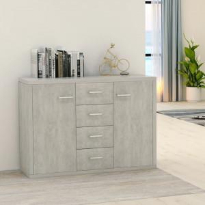 Servantă, gri beton, 88 x 30 x 75 cm, PAL