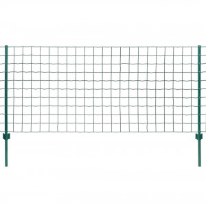 Set de gard Euro, 20 x 1,5 m, oțel, verde