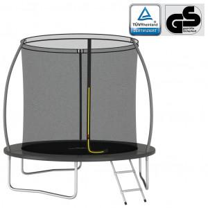 Set trambulină rotundă, 244x55 cm, 100 kg