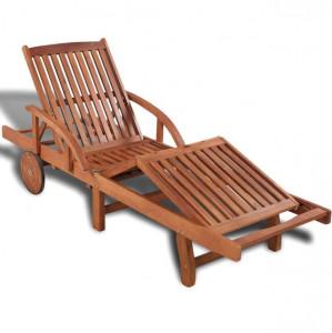 Șezlong de plajă, lemn masiv de acacia