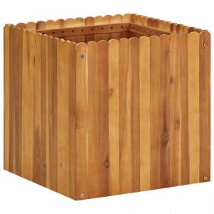 Strat înălțat de grădină, 50 x 50 x 50 cm, lemn masiv de acacia