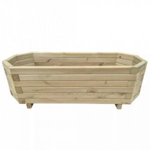 Strat înălțat de grădină, 80 x 32 x 31 cm, lemn de pin tratat