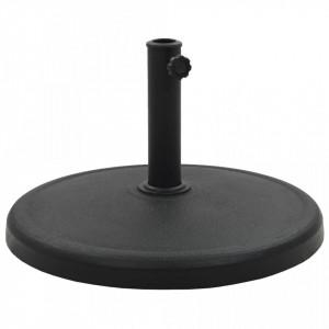Suport umbrelă de soare, negru, 19 kg, polirășină, rotund