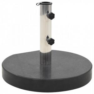 Suport umbrelă de soare, negru, granit, 30 kg, rotund