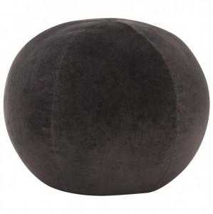 Taburet puf, antracit, 50 x 35 cm, catifea