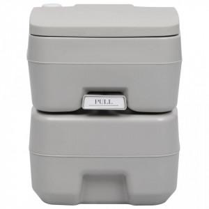 Toaletă portabilă pentru camping, gri, 20+10 L