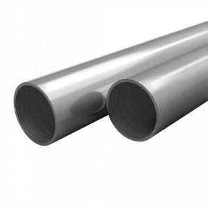 Tuburi din oțel inoxidabil 2 buc. Ø48x1,8mm rotund V2A 2m