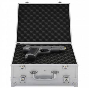 Valiză pentru armă, argintiu, aluminiu ABS
