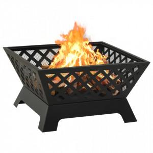 Vatră de foc cu vătrai, 64 cm, oțel, XXL
