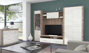 Venecia wall unit oak s.truffle/craft white