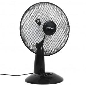 Ventilator de masă cu 3 viteze, negru, 30 cm, 40 W