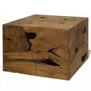 Măsuță de cafea, 50 x 50 x 35 cm, lemn de tec natural, maro