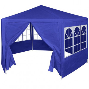 42347 Marquee with 6 Side Walls Blue 2x2 m