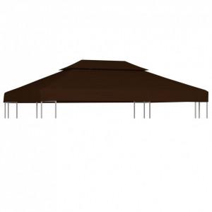 Acoperiș pavilion cu 2 niveluri, maro, 4 x 3 m, 310 g/m²