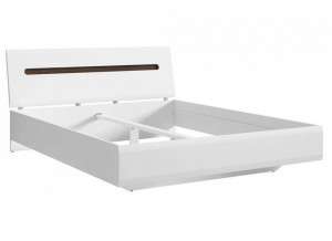 Azteca 024 cadru de pat 160 white/white high gloss