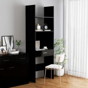 Bibliotecă, negru, 60x35x180 cm, PAL