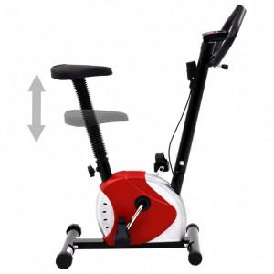 Bicicletă de fitness cu centură de rezistență, roșu