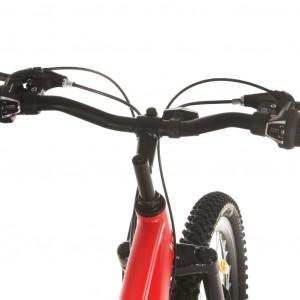 Bicicletă montană, 21 viteze, roată 29 inci, cadru 58 cm, roșu