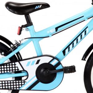 Bicicletă pentru copii, negru și albastru, 16 inci