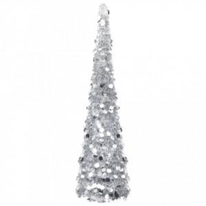 Brad de Crăciun artificial tip pop-up, argintiu, 150 cm, PET