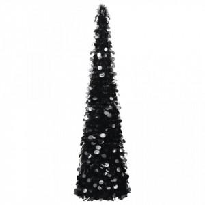 Brad de Crăciun artificial tip pop-up, negru, 180 cm, PET
