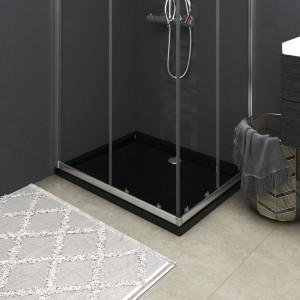 Cădiță de duș dreptunghiulară din ABS, neagră, 70x90 cm