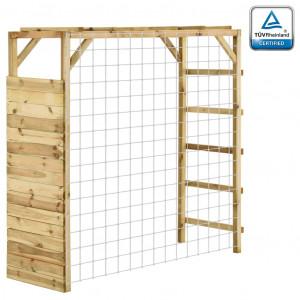 Cadru de cățărare cu poartă de fotbal, 170x60x170 cm, lemn pin