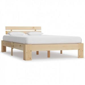 Cadru de pat, 140 x 200 cm, lemn masiv de pin