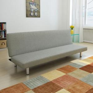 Canapea extensibilă, gri, poliester