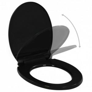 Capac WC cu închidere silențioasă model eliberare rapidă, negru