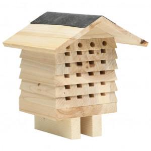 Casă de albine, 22x20x20 cm, lemn masiv de brad