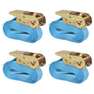 Chingi fixare cu clichet 4 buc, 0,8 tone, 6 m x 25 mm, albastru