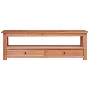 Comodă TV, 120 x 30 x 40 cm, lemn masiv de mahon