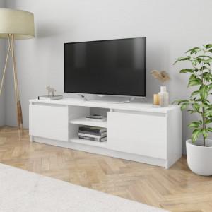 Comodă TV, alb extralucios, 120 x 30 x 35,5 cm, PAL