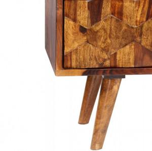 Comodă TV din lemn masiv de sheesham, 140 x 30 x 40 cm