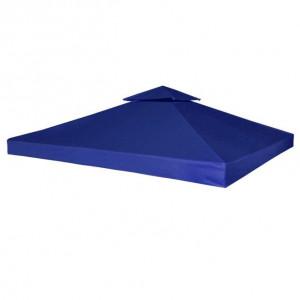 Copertină de rezervă foișor, albastru închis, 3x3 m, 310 g/m²