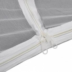 Cort camping, alb, 200x120x130 cm, fibră de sticlă